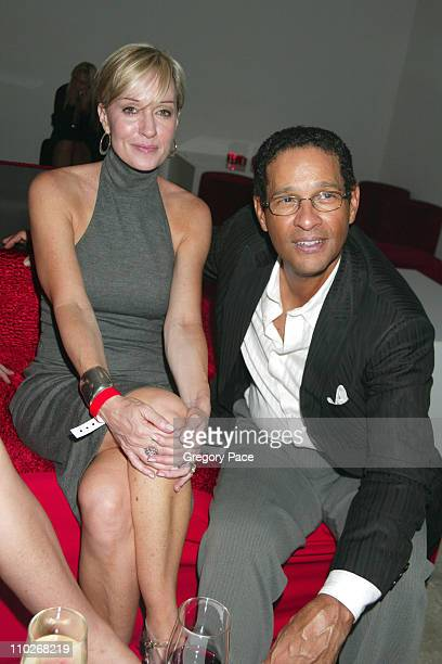 Hilary Quinlan and Bryant Gumbel during Cosmopolitan's 40th Birthday Bash Arrivals and Inside at Skylight Studio in New York City New York United...