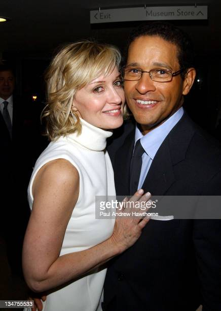 Hilary Quinlan and Bryant Gumbel during Elizabeth Glaser Pediatric AIDS Foundation's An Evening at the Guggenheim at Guggenheim Museum in New York...