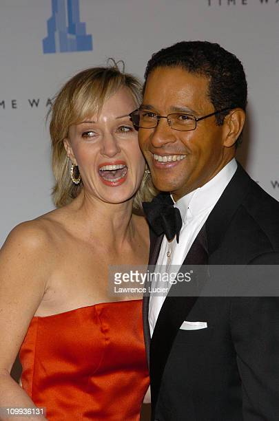 Hilary Quinlan and Bryant Gumbel during Grand Opening Celebration of Time Warner Center at Time Warner Center in New York City New York United States