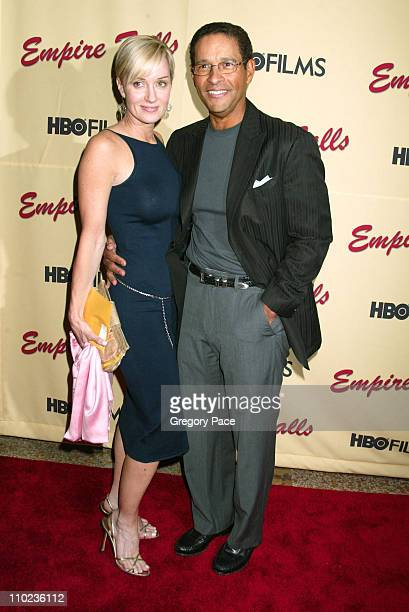 Hilary Quinlan and Bryant Gumbel during HBO Films Empire Falls New York City Premiere Arrivals at The Metropolitan Museum of Art in New York City New...