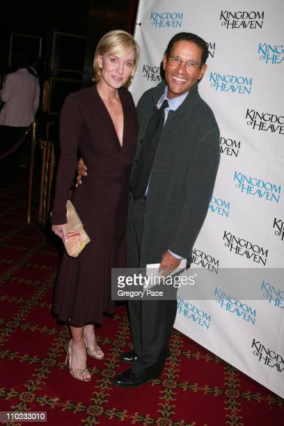Hilary Quinlan and Bryant Gumbel during Kingdom of Heaven New York City Premiere Inside Arrivals at Ziegfeld Theater in New York City New York United...