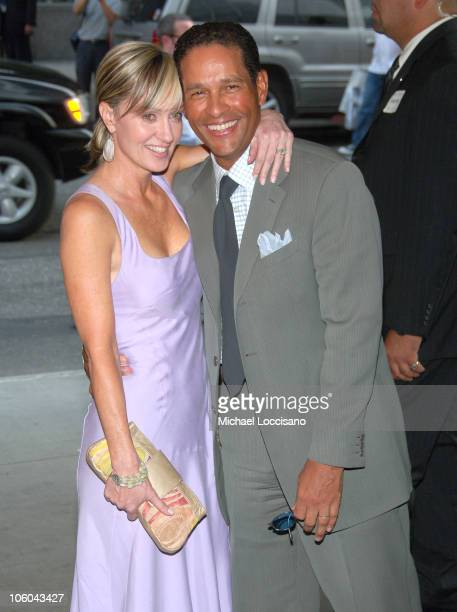 Hilary Quinlan and Bryant Gumbel during Scoop New York Screening July 26 2006 at The Museum of Modern Art in New York City New York United States