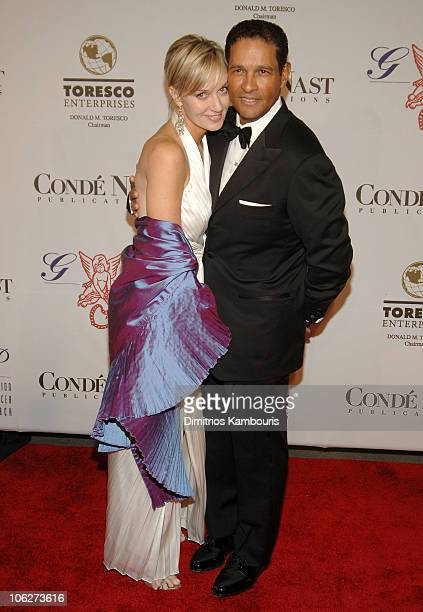 Hilary Quinlan and Bryant Gumbel during The GP Foundation for Cancer Research Fourth Annual Angel Ball Arrivals at Marriott Marquis in New York City...