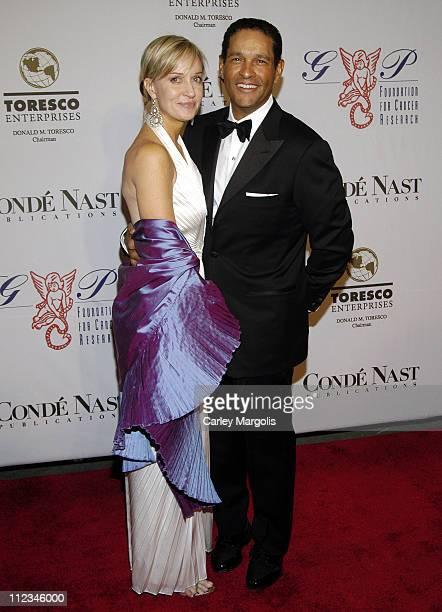 Hilary Quinlan and Bryant Gumbel during The GP Foundation for Cancer Research 4th Annual Angel Ball at Marriott Marquis in New York City New York...