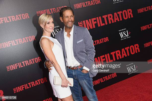 Hilary Quinlan and husband Bryant Gumbel attend The Infiltrator New York premiere at AMC Loews Lincoln Square 13 theater on July 11 2016 in New York...