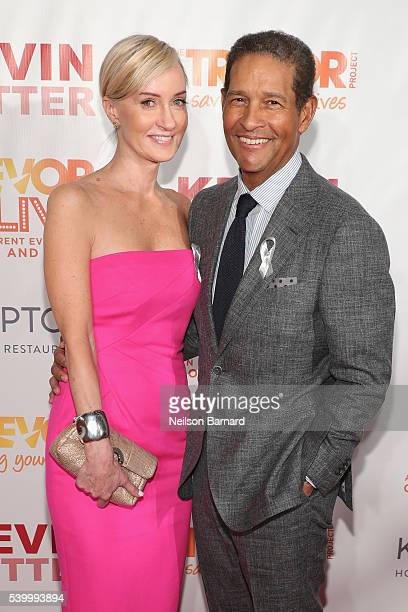 Hilary Quinlan and journalist Bryant Gumbel attend The Trevor Project's TrevorLIVE New York on June 13 2016 in New York City