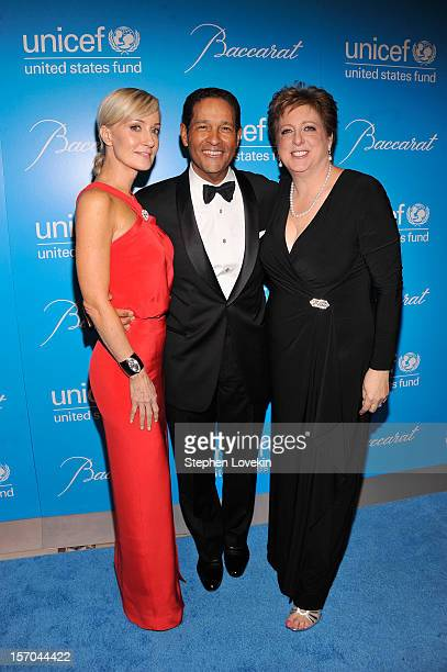 Hilary Quinlan Bryant Gumbel and Caryl Stern attend the Unicef SnowFlake Ball at Cipriani 42nd Street on November 27 2012 in New York City