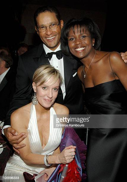 Hilary Quinlan Bryant Gumbel and Deborah Roberts during The GP Foundation for Cancer Research Fourth Annual Angel Ball Inside at Marriott Marquis in...
