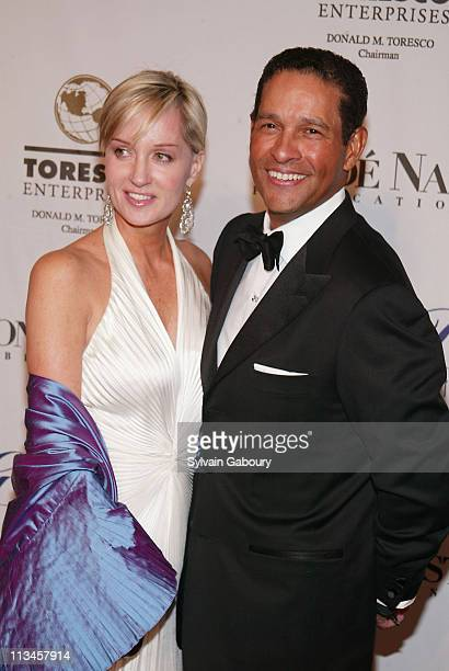 Hilary Quinlan Bryant Gumbel during The GP Foundation's 2005 Angel Ball at The Marriott Marquis in New York New York United States