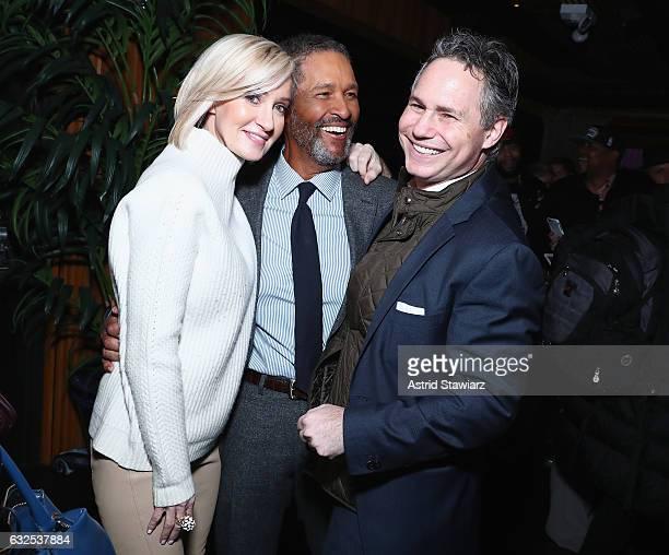 Hilary Quinlan Bryant Gumble and Jason Binn attend Jason Binn's birthday celebration at Megu at Dream Downtown on January 23 2017 in New York City