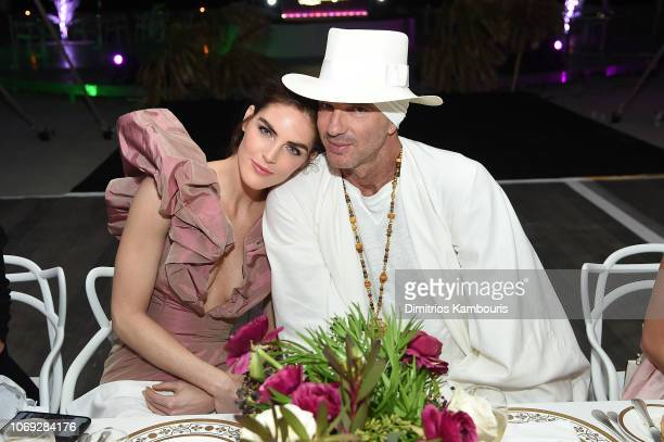 Hilary Rhoda and Alan Faena attend Vladimir Restoin Roitfeld And Hilary Rhoda Attend L'Eden By PerrierJouet To Celebrate Launch Of CR WOMEN 2019 at...