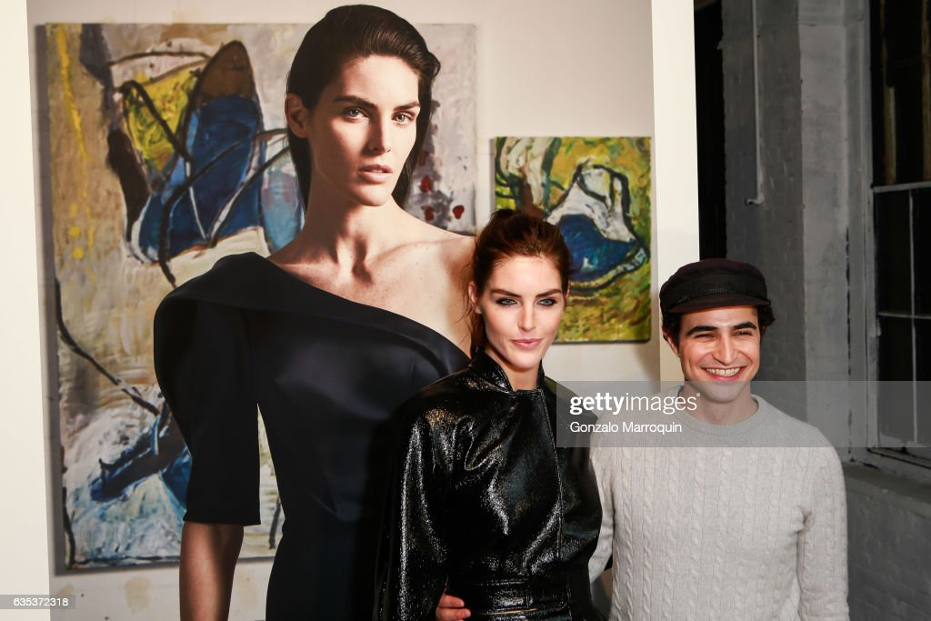 Hilary Rhoda and Zac Posen during the designers Presentation for New York Fashion Week: at 13-17 Laight Street on February 14, 2017 in New York City.