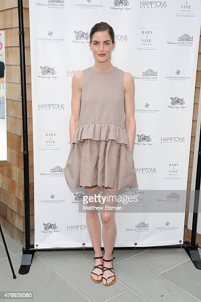 Hilary Rhoda attends as Hamptons Magazine celebrates cover stars Sean Avery and Hilary Rhoda at Barn Vine on June 12 2015 in Bridgehampton New York