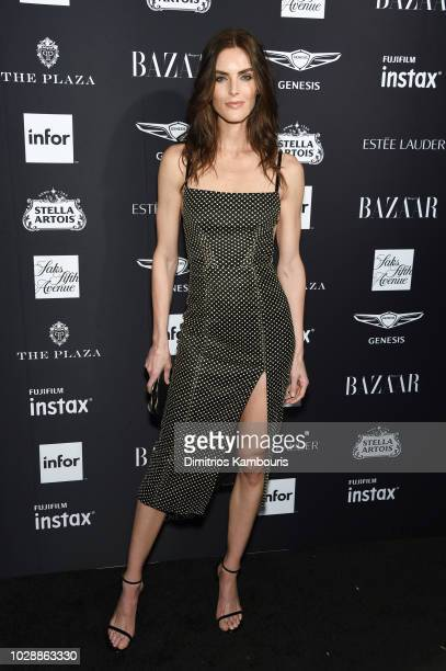 Hilary Rhoda attends as Harper's BAZAAR Celebrates ICONS By Carine Roitfeld at the Plaza Hotel on September 7 2018 in New York City