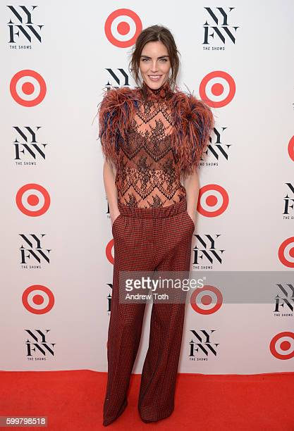 Hilary Rhoda attends Target IMG New York Fashion Week Kickoff event at The Park at Moynihan Station on September 6 2016 in New York City
