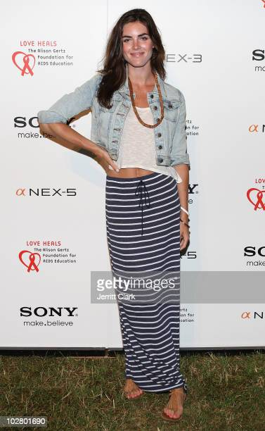 Hilary Rhoda attends the 11th annual Love Heals at Luna Farm on July 10 2010 in Sagaponack New York