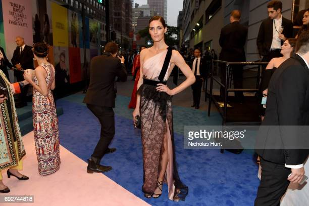 Hilary Rhoda attends the 2017 CFDA Fashion Awards Cocktail Hour at Hammerstein Ballroom on June 5 2017 in New York City