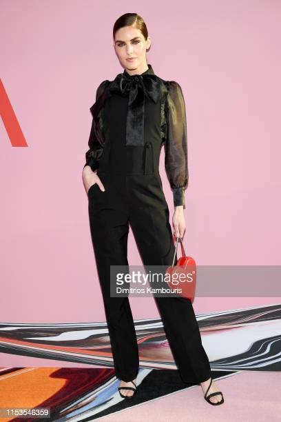 Hilary Rhoda attends the CFDA Fashion Awards at the Brooklyn Museum of Art on June 03 2019 in New York City