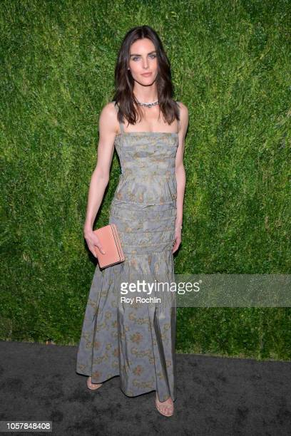 Hilary Rhoda attends the CFDA / Vogue Fashion Fund 15th Anniversary Event at Brooklyn Navy Yard on November 5 2018 in Brooklyn New York