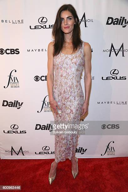 Hilary Rhoda attends The Daily Front Row's 4th Annual Fashion Media Awards Arrivals at Park Hyatt New York on September 8 2016 in New York City