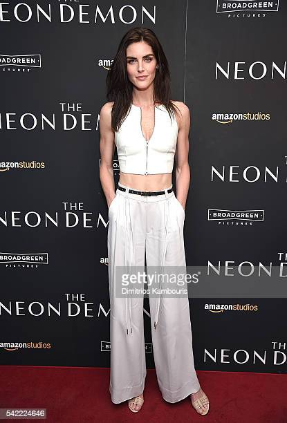 """Hilary Rhoda attends """"The Neon Demon"""" New York Premiere at Metrograph on June 22, 2016 in New York City."""