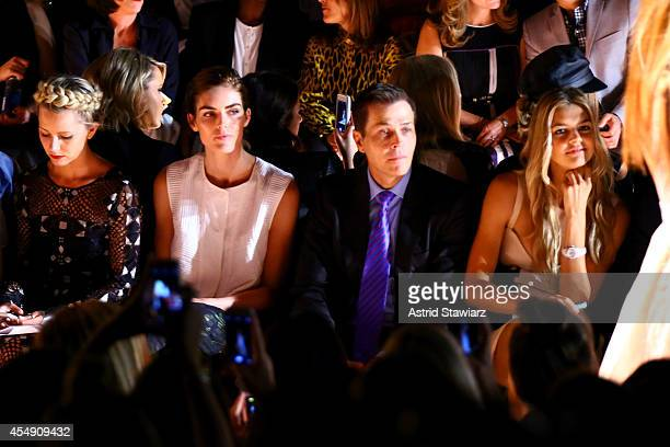 Hilary Rhoda Patrick Whitesell and Kelly Rohrbach attend the BCBGMAXAZRIA fashion show during MercedesBenz Fashion Week Spring 2015 at The Theatre at...