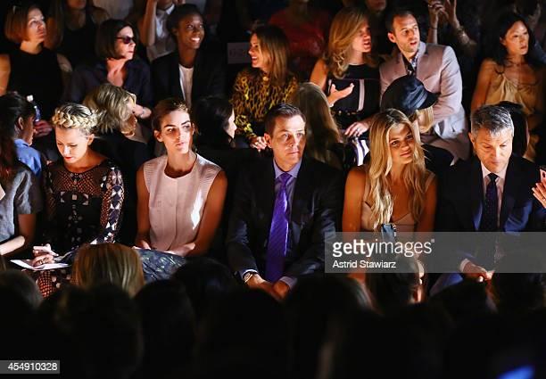 Hilary Rhoda Patrick Whitesell Kelly Rohrbach and Ari Emanuel attend the BCBGMAXAZRIA fashion show during MercedesBenz Fashion Week Spring 2015 at...
