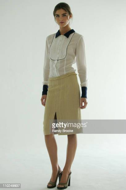 Hilary Rhoda wearing Verrier Spring 2006 during Olympus Fashion Week Spring 2006 Verrier Presentation at Studio 450 Penthouse in New York City New...