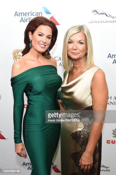 Hilary Roberts and BAFTA Los Angeles CEO Chantal Rickards attend the 2018 British Academy Britannia Awards presented byJaguar Land Rover and American...