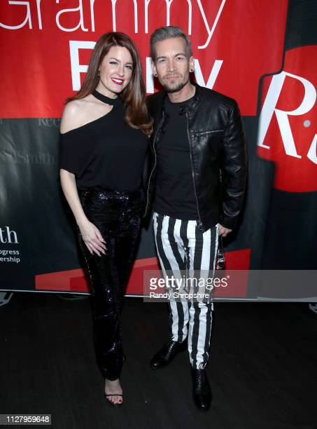 Hilary Roberts and Damon Sharpe attend Reed Smith Grammy Party at Nightingale Plaza on February 06 2019 in Los Angeles California