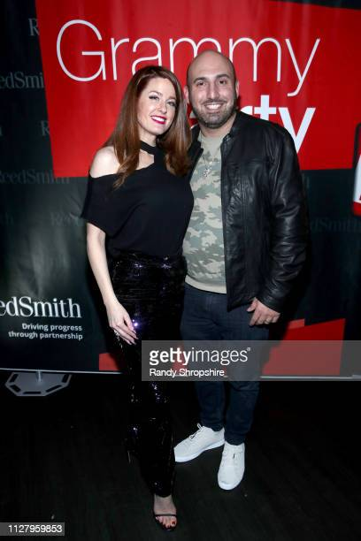 Hilary Roberts and Josh Klein attend Reed Smith Grammy Party at Nightingale Plaza on February 06 2019 in Los Angeles California