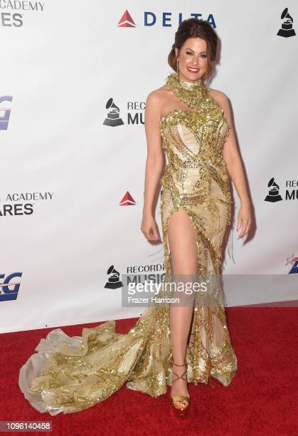 Hilary Roberts attends MusiCares Person of the Year honoring Dolly Parton at Los Angeles Convention Center on February 8 2019 in Los Angeles...