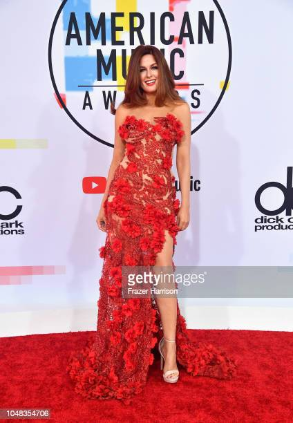 Hilary Roberts attends the 2018 American Music Awards at Microsoft Theater on October 9 2018 in Los Angeles California