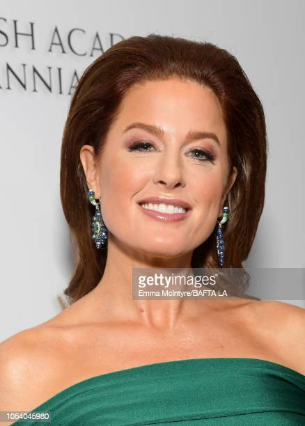 Hilary Roberts attends the 2018 British Academy Britannia Awards presented by Jaguar Land Rover and American Airlines at The Beverly Hilton Hotel on...