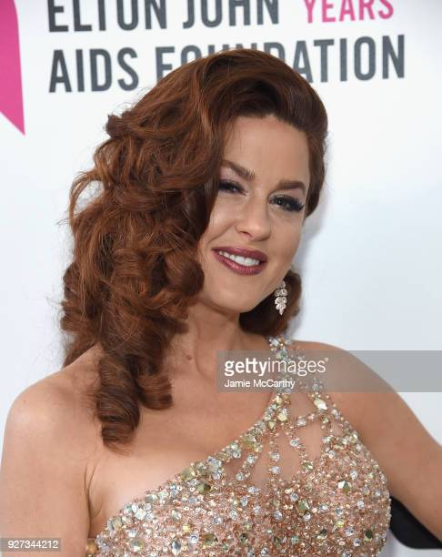 Hilary Roberts attends the 26th annual Elton John AIDS Foundation Academy Awards Viewing Party sponsored by Bulgari celebrating EJAF and the 90th...