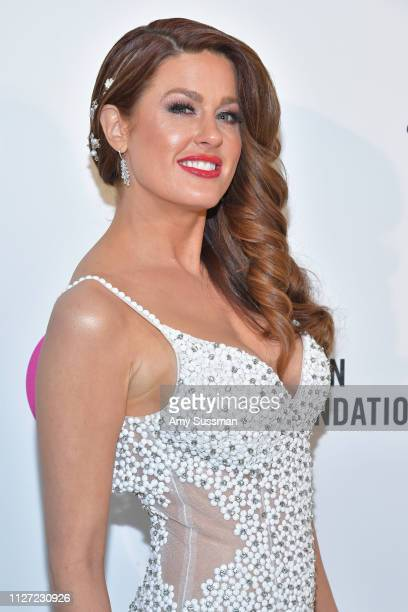 Hilary Roberts attends the 27th annual Elton John AIDS Foundation Academy Awards Viewing Party celebrating EJAF and the 91st Academy Awards on...