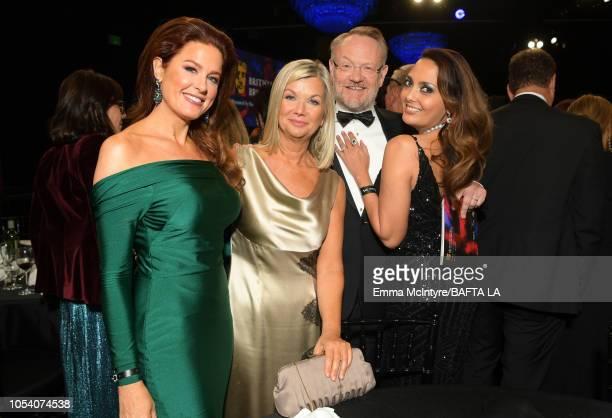 Hilary Roberts BAFTA Los Angeles CEO Chantal Rickards Jared Harris and Allegra Harris attend the 2018 British Academy Britannia Awards presented...