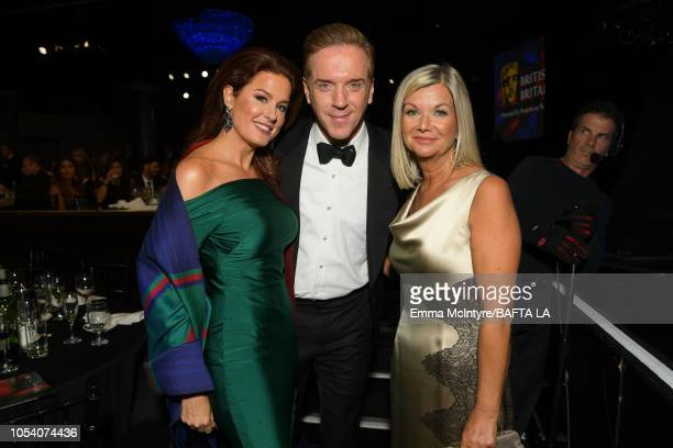 Hilary Roberts Damian Lewis and BAFTA Los Angeles CEO Chantal Rickards attend the 2018 British Academy Britannia Awards presented byJaguar Land Rover...