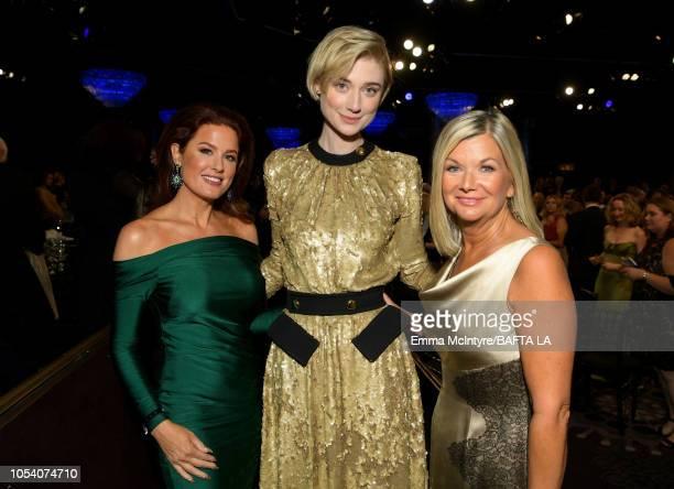 Hilary Roberts Elizabeth Debicki and BAFTA Los Angeles CEO Chantal Rickards attend the 2018 British Academy Britannia Awards presented byJaguar Land...