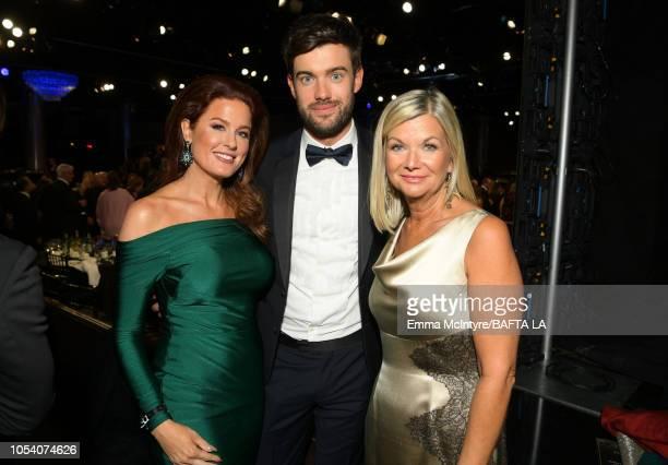 Hilary Roberts Host Jack Whitehall and BAFTA Los Angeles CEO Chantal Rickards attend the 2018 British Academy Britannia Awards presented byJaguar...