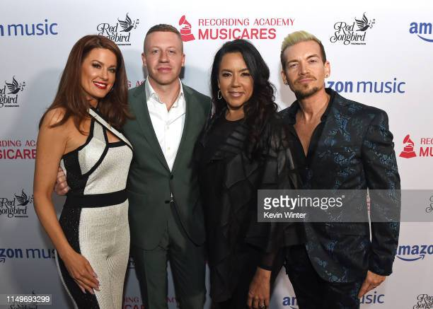 Hilary Roberts Macklemore Felicia Greer and Damon Sharpe attend MusiCares® Concert For Recovery Presented by Amazon Music Honoring Macklemore at The...