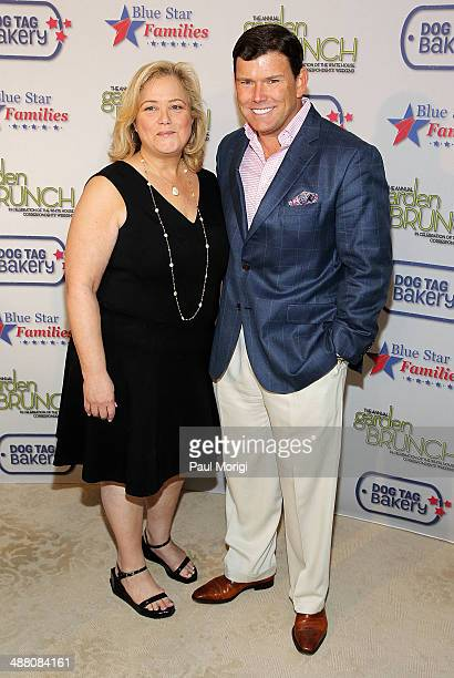 Hilary Rosen and Bret Baier attend the 2014 Annual Garden Brunch at the BeallWashington House on May 3 2014 in Washington DC