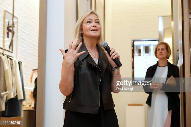 Hilary Rosen Managing Director SKDK speaks at the kick off of the White House Correspondents Week at the Lafayette 148 New York Tysons Galleria Grand...