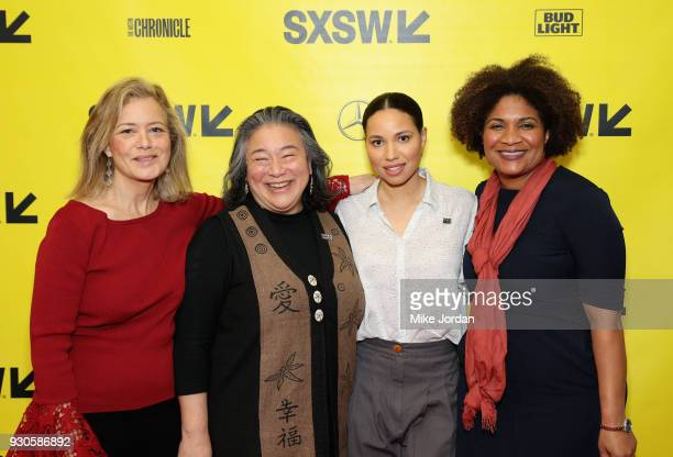 Hilary Rosen Tina Tchen Jurnee SmollettBell and Fatima Goss Graves attend Time's Up Shifting the Imbalance of Power during SXSW at Austin Convention...