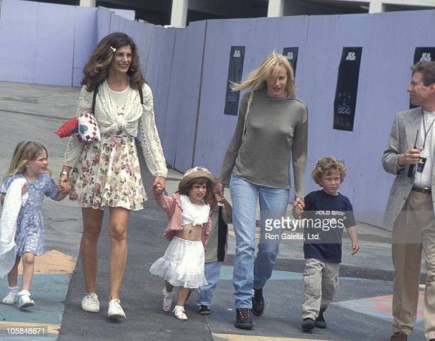 Hilary Shepard Daryl Hannah and children during World Premiere of Casper at Cineplex Odeon Theater in Universal City California United States