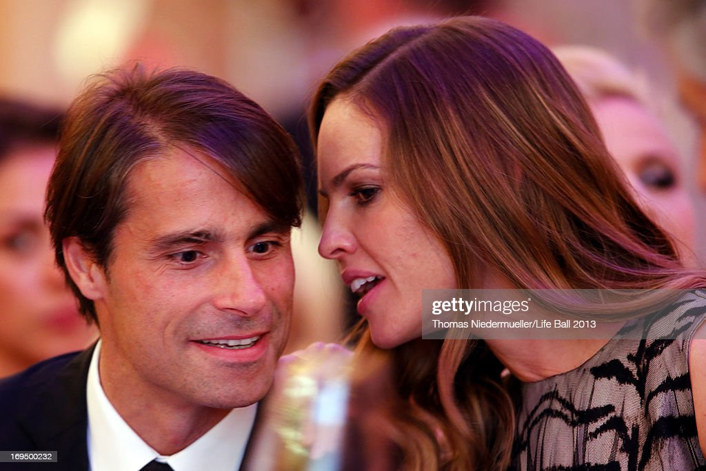 Hilary Swank and boyfriend Laurent Fleury attend the 'AIDS Solidarity Gala 2013' at Hofburg Vienna on May 25, 2013 in Vienna, Austria.