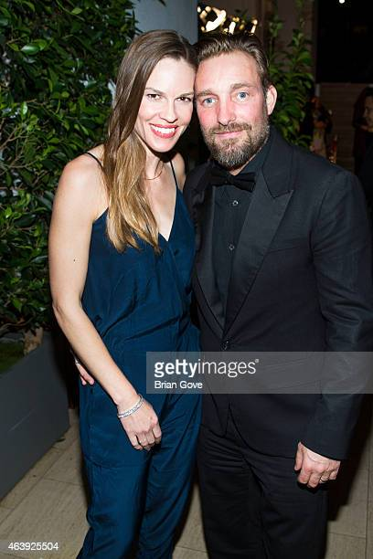 Hilary Swank and Brian Bowen Smith attend Geraldo Jewelry presents 'Icons Of The Awards' benefiting The Art Of Elysium at Mr C Beverly Hills on...