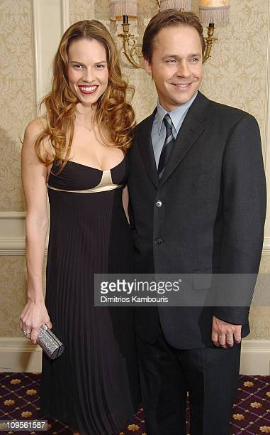 Hilary Swank and Chad Lowe during 2005 New York Film Critics Circle Awards Dinner Inside Arrivals at Roosevelt Hotel in New York City New York United...