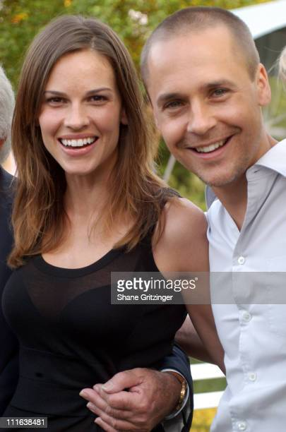 Hilary Swank and Chad Lowe during 'An Hour To Kill' Launch Party Hosted by Hilary Swank and Chad Lowe at Private Residence in Watermill New York...