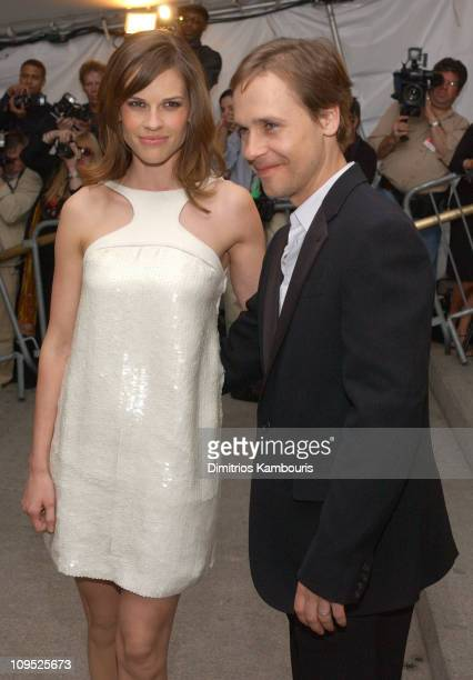 Hilary Swank and Chad Lowe during Costume Institute Benefit Dance 'Party of the Year' Arrivals at Metropolitan Museum of Art in New York City New...